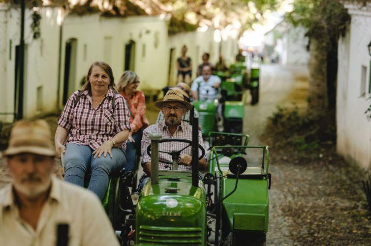 Jízda na traktoru